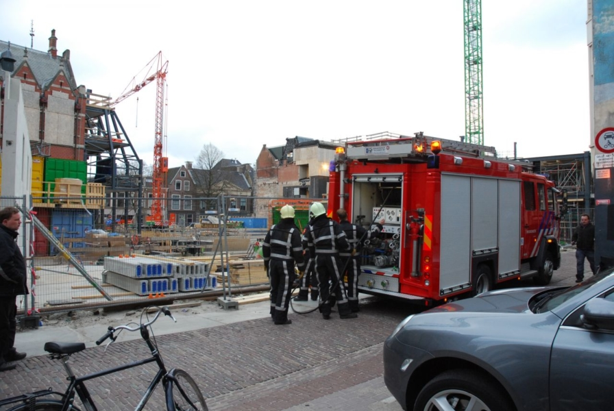 Houtzaag in brand