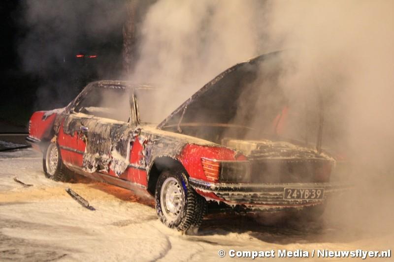 Voertuig op parkeerplaats N381 in brand