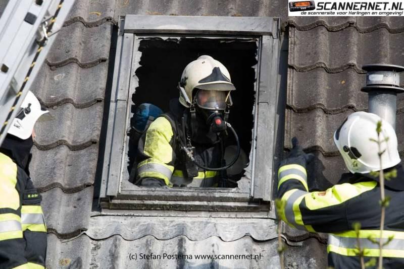 Slaapkamer in brand