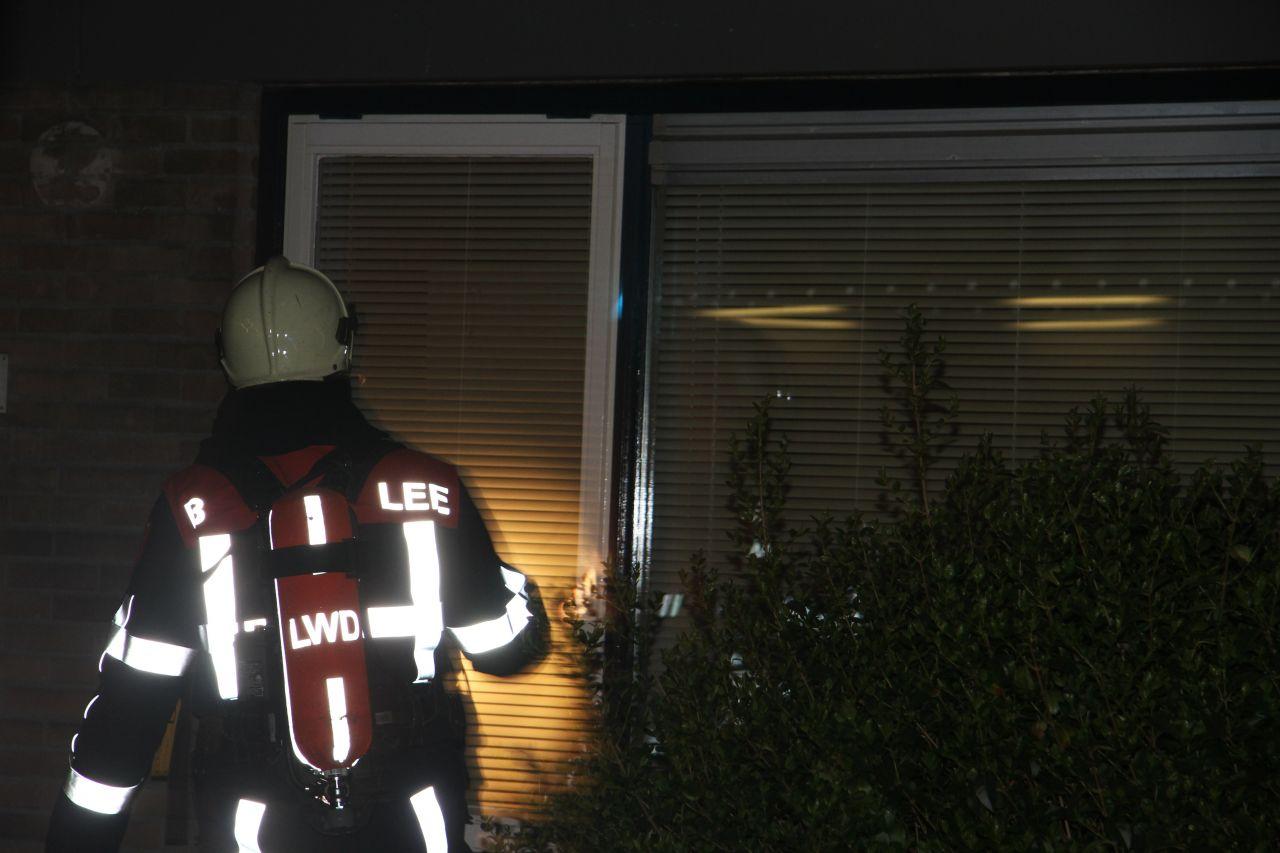 Loze brandmelding in leegstaande woning (video)