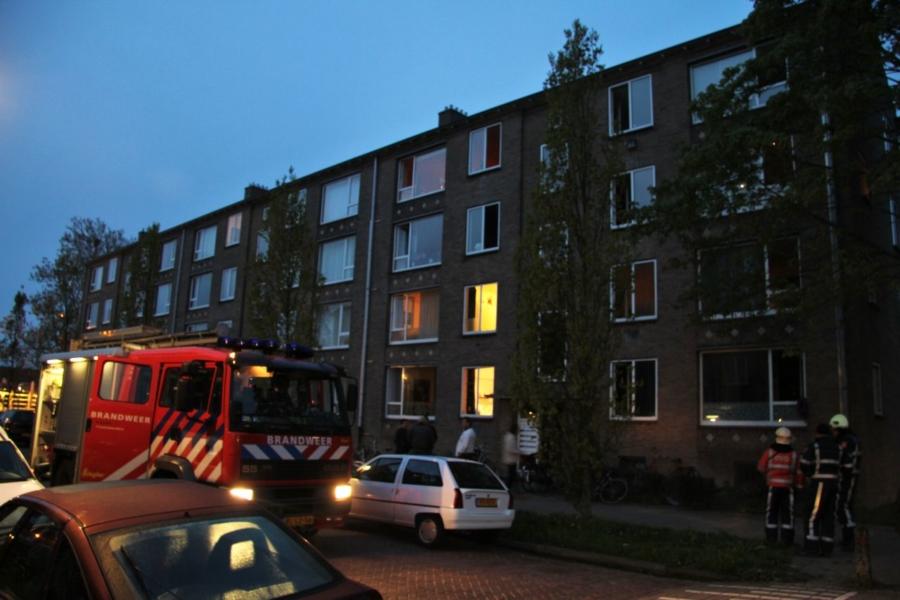 Evacuatie na brand in kelder (video)