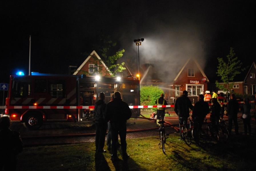 Snackbar verwoest door brand