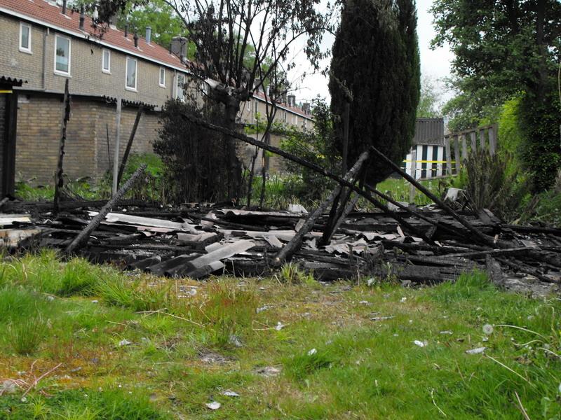 Mogelijk asbest vrijgekomen bij brand