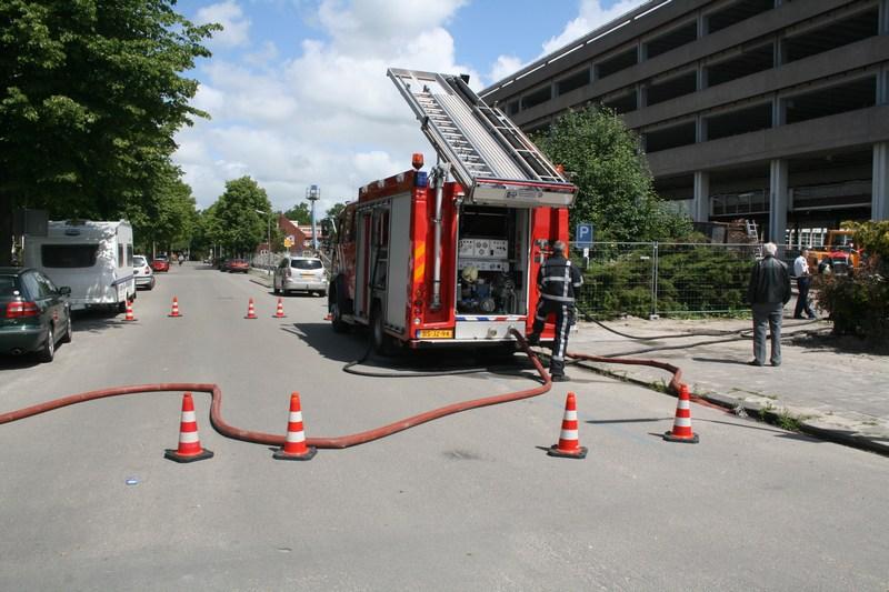 Veel rook bij brand in bouwcontainer