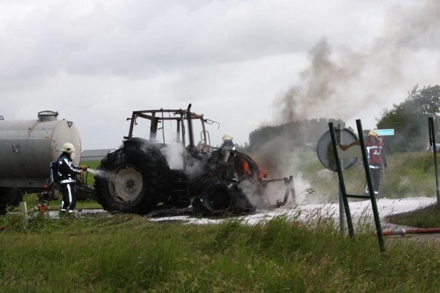 Tractor in brand Hoflan Grou