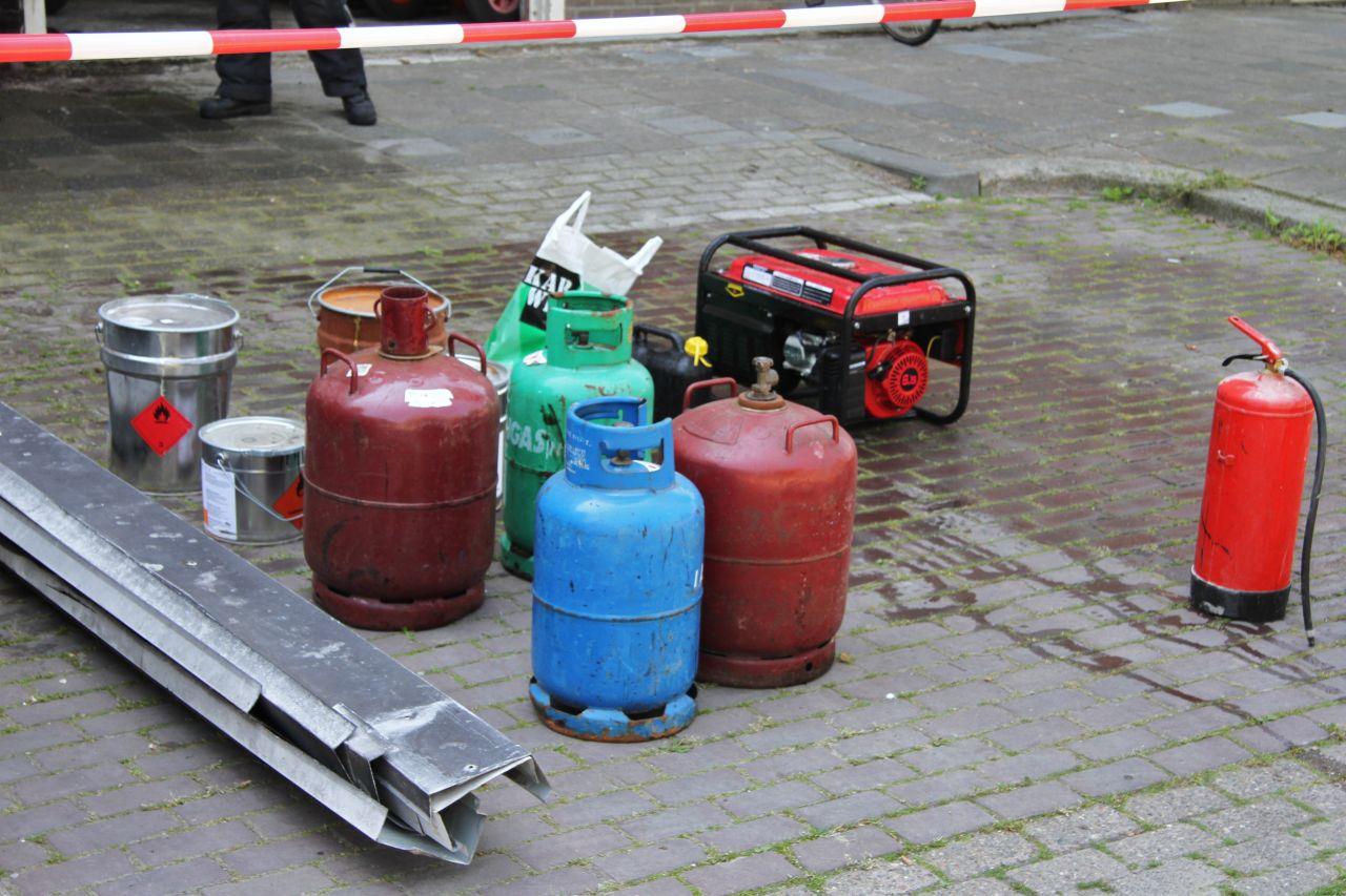 Gaslucht bij flat (video)