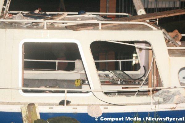Schip vernield na explosie
