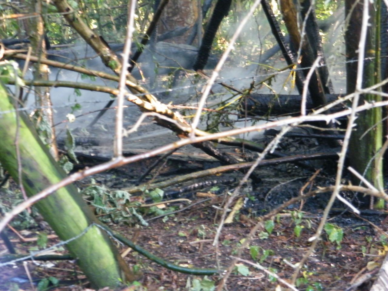 Hut in brand Vrijstad