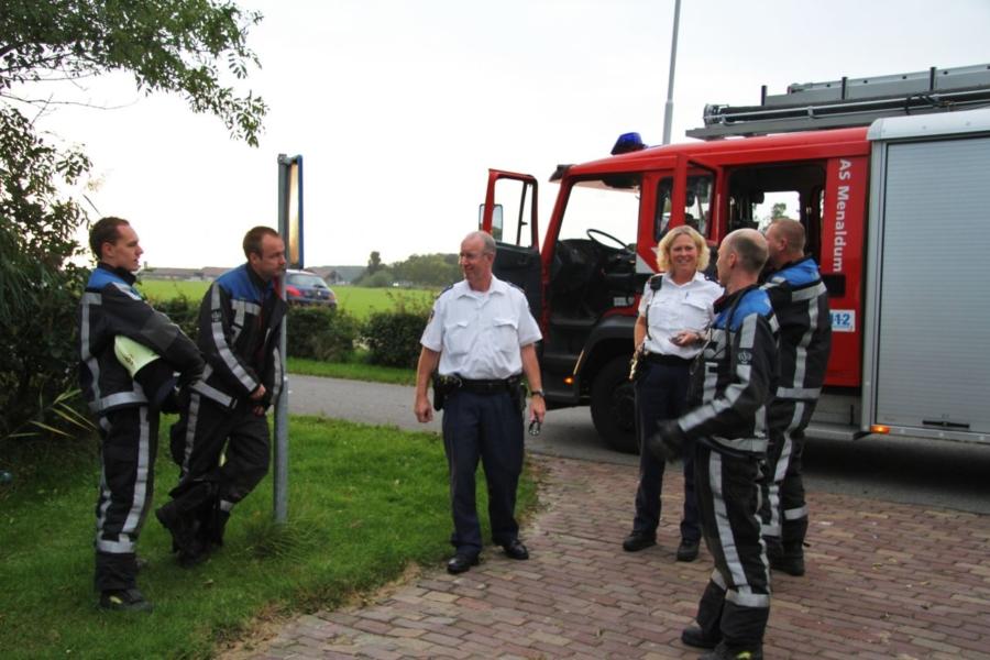 Brandweer rukt uit voor bbq