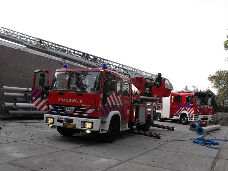 Brand bij transportbedrijf