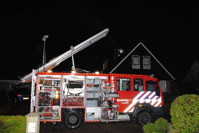 Flinke rookontwikkeling bij schoorsteenbrand