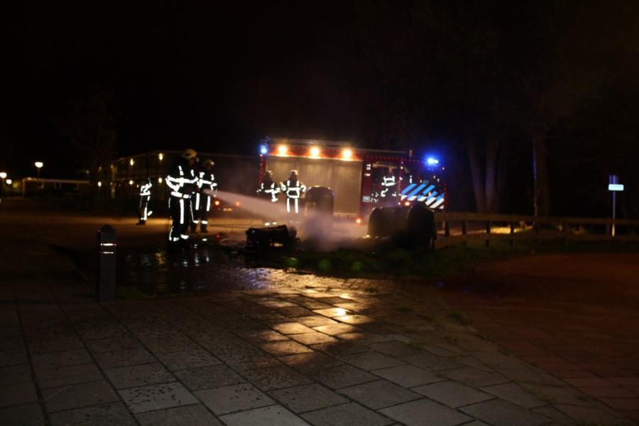 Grofvuil in brand