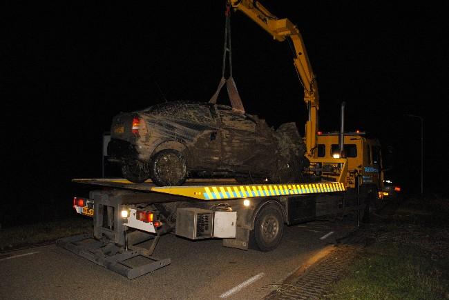 Auto gelanceerd bij ongeval