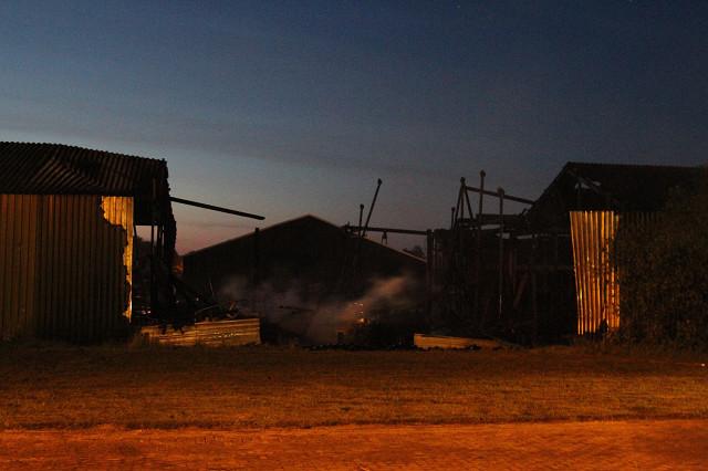 Schepen en schiphuizen in brand