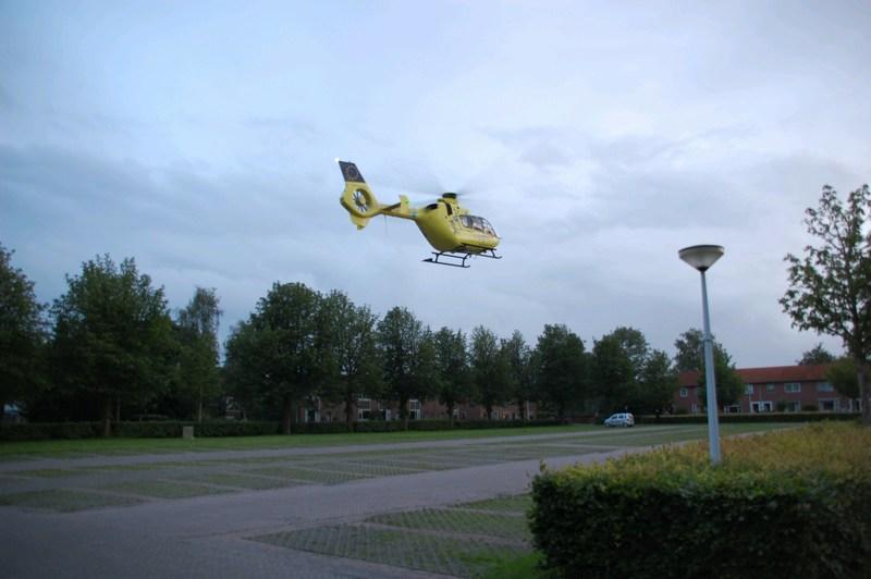 Traumahelikopter verleend assistentie bij onwelwording