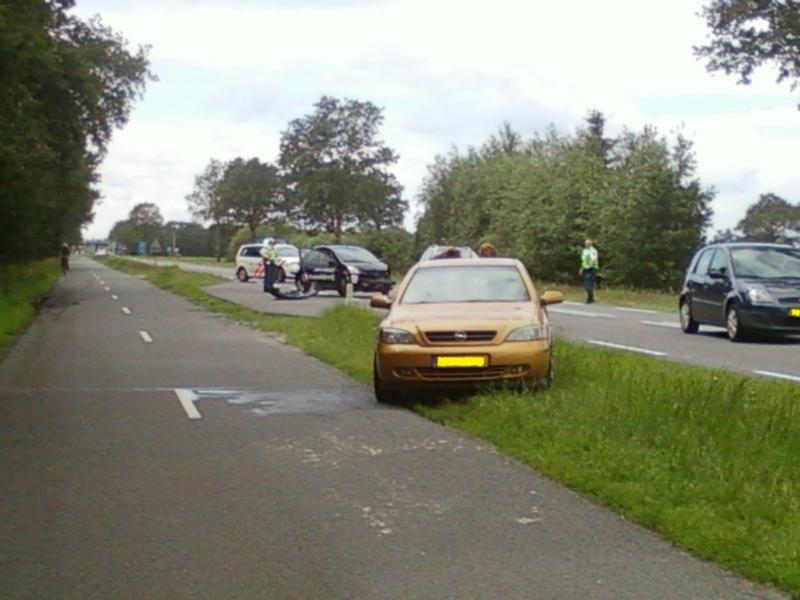 Auto's beschadigd bij aanrijding