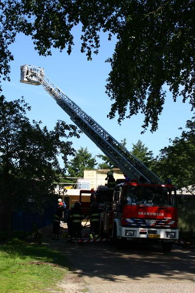 Dakwerkzaamheden zorgen voor brand
