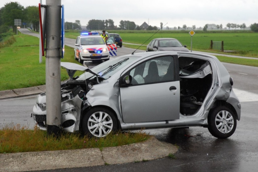 Ongeval op kruispunt
