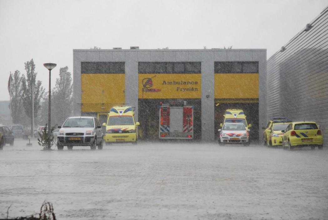 Klein brandje in ambulance