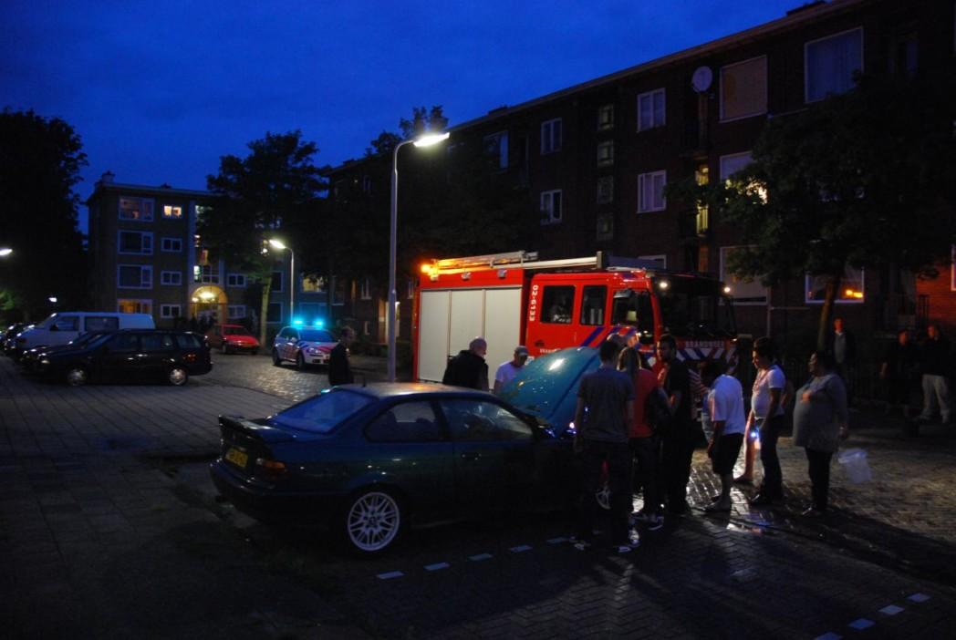 Autobrand snel gedoofd