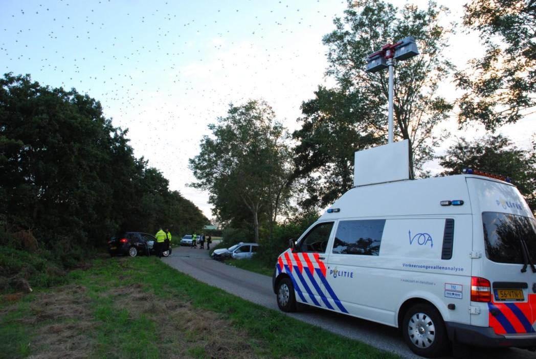 Vier ambulances ingezet bij frontale aanrijding
