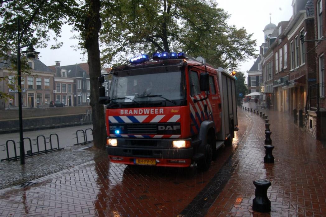 Brandweervrouw getrouwd in oude stadhuis