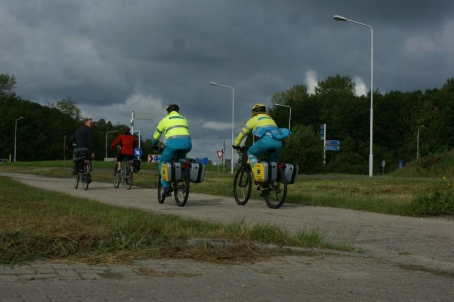 Biketeam ambulance ingezet bij visserijdagen