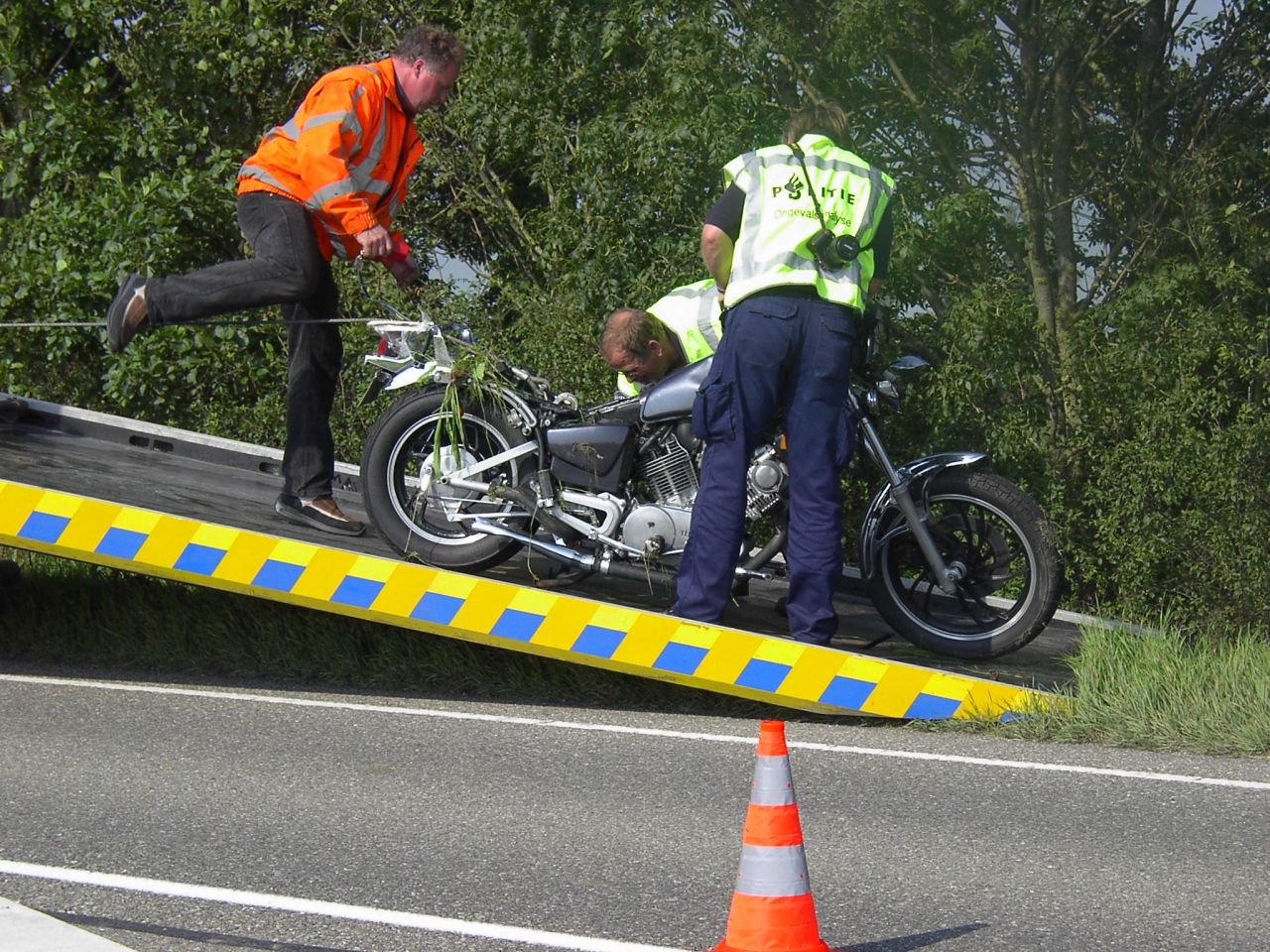Motorrijder komt om na ongeval met tractor
