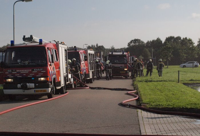 Grote brand bij sportcentrum