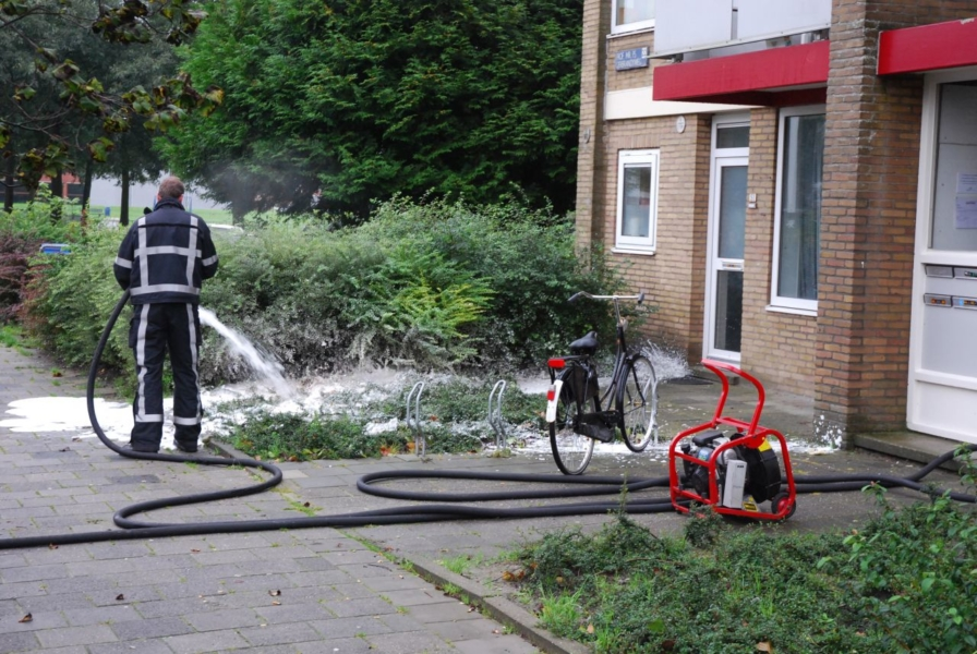 Rookontwikkeling bij brand in flatwoning