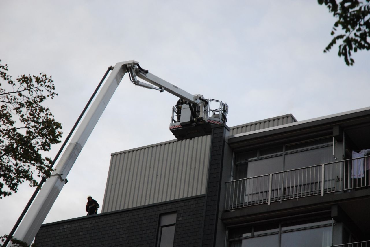 Rookontwikkeling op dak