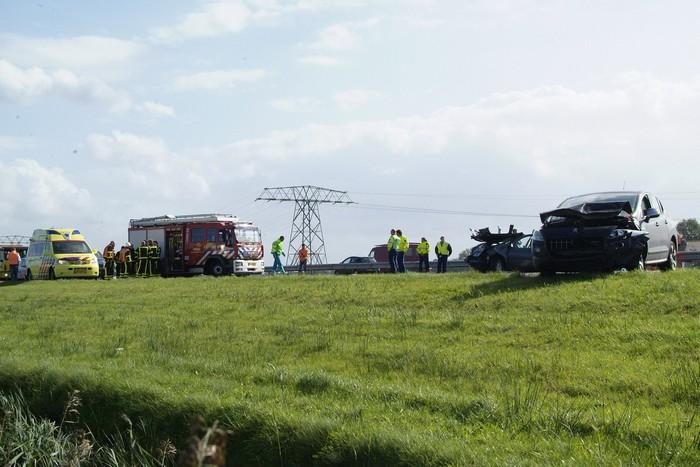 Ernstig ongeval op A7 tussen Heerenveen en Joure