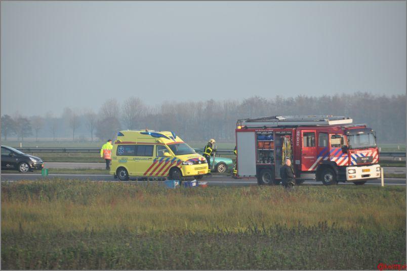 Meerdere gewonden bij ongeval A7