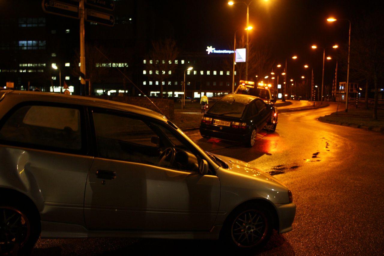 Ongeval op rotonde