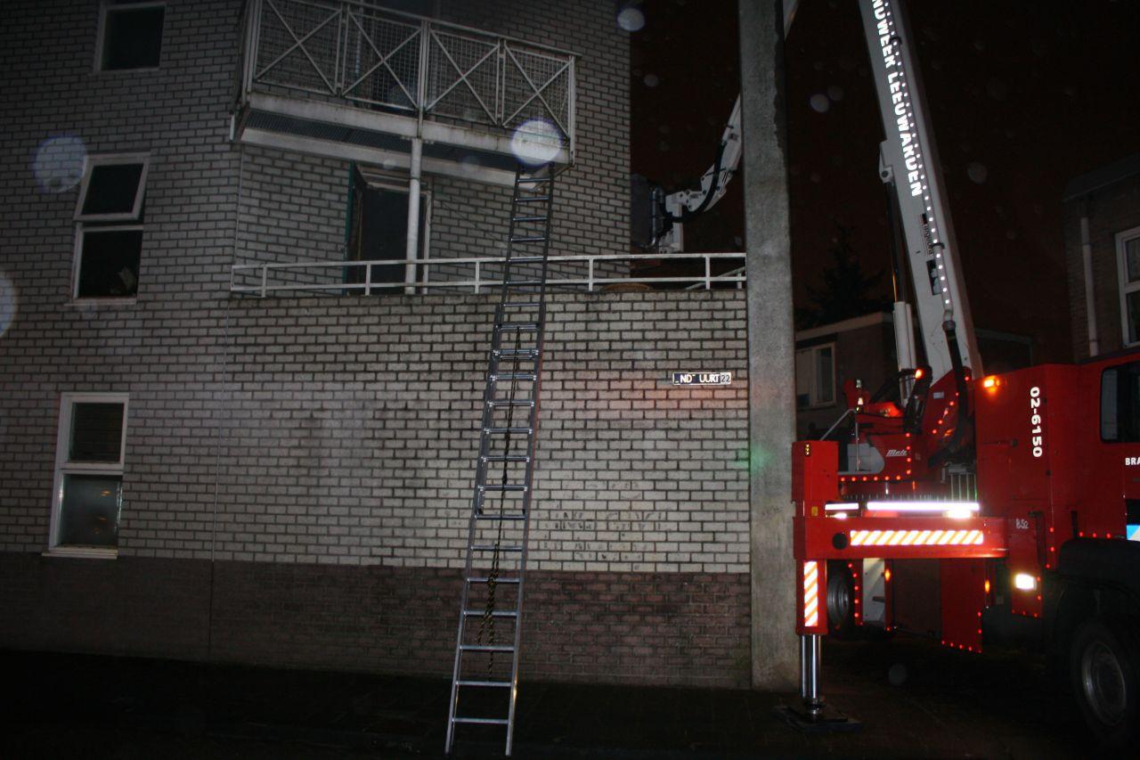 Woningen verwoest door felle binnenbrand