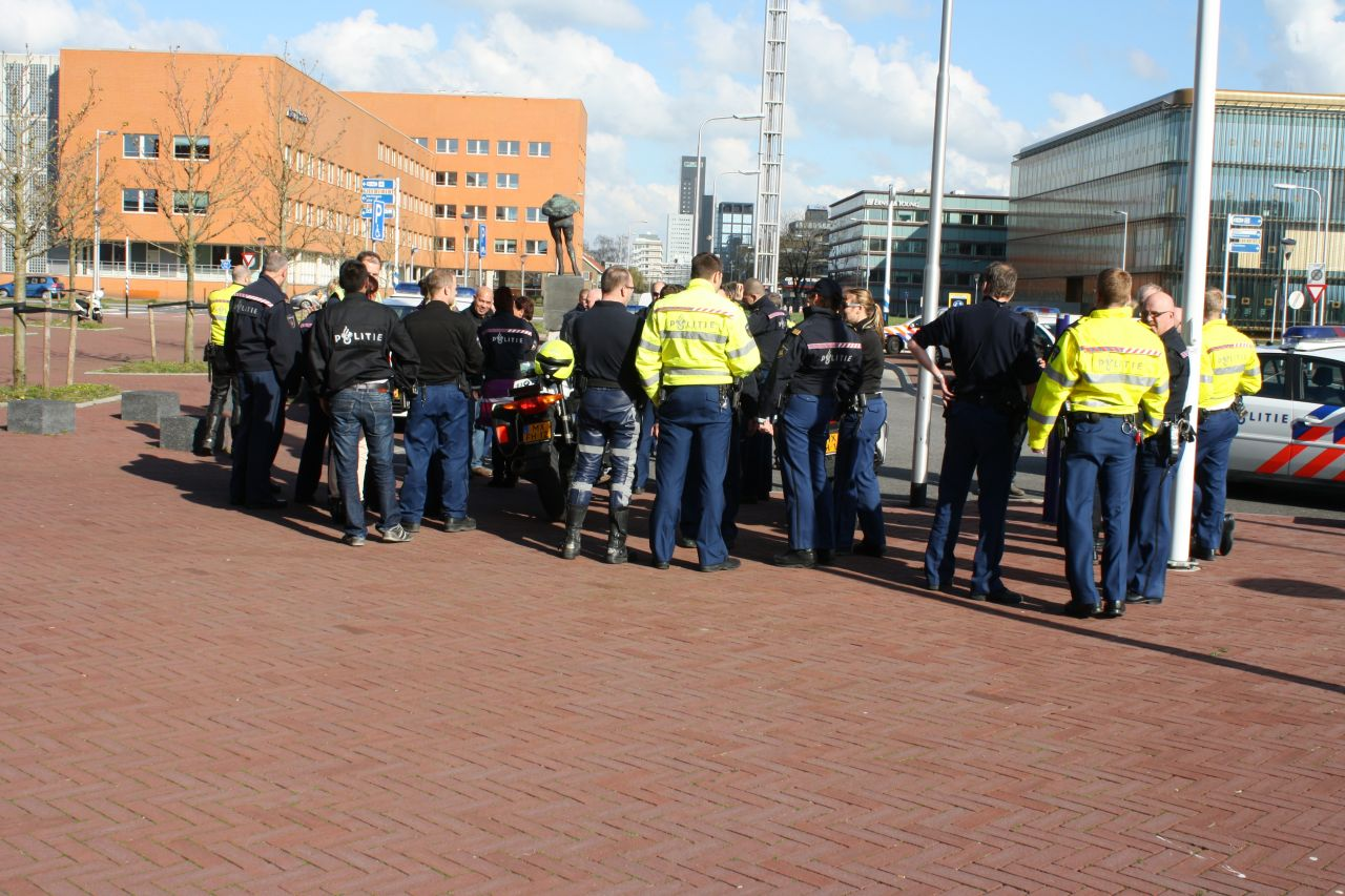 Files door wilde politie actie rondweg Leeuwarden
