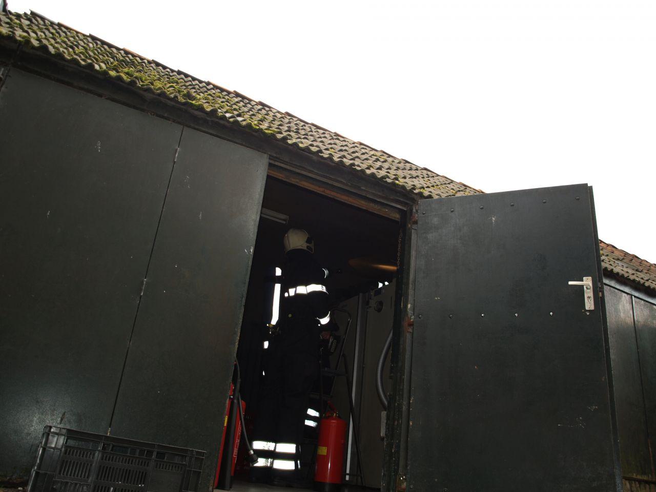 Klein brandje bij koelcel van restaurant