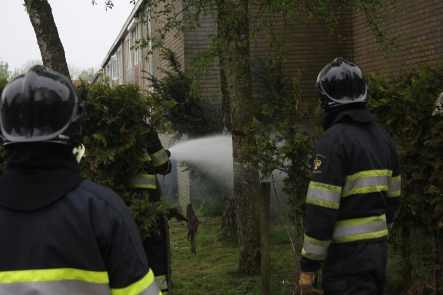 Brandweer rukt uit voor kleine brand
