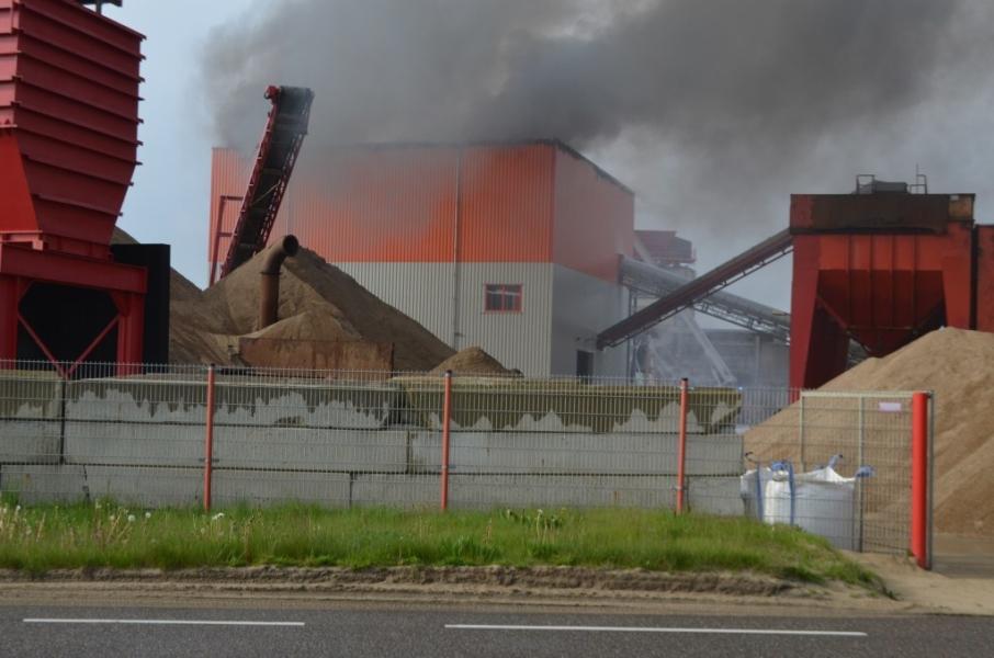 Grote brand bij Spaansen