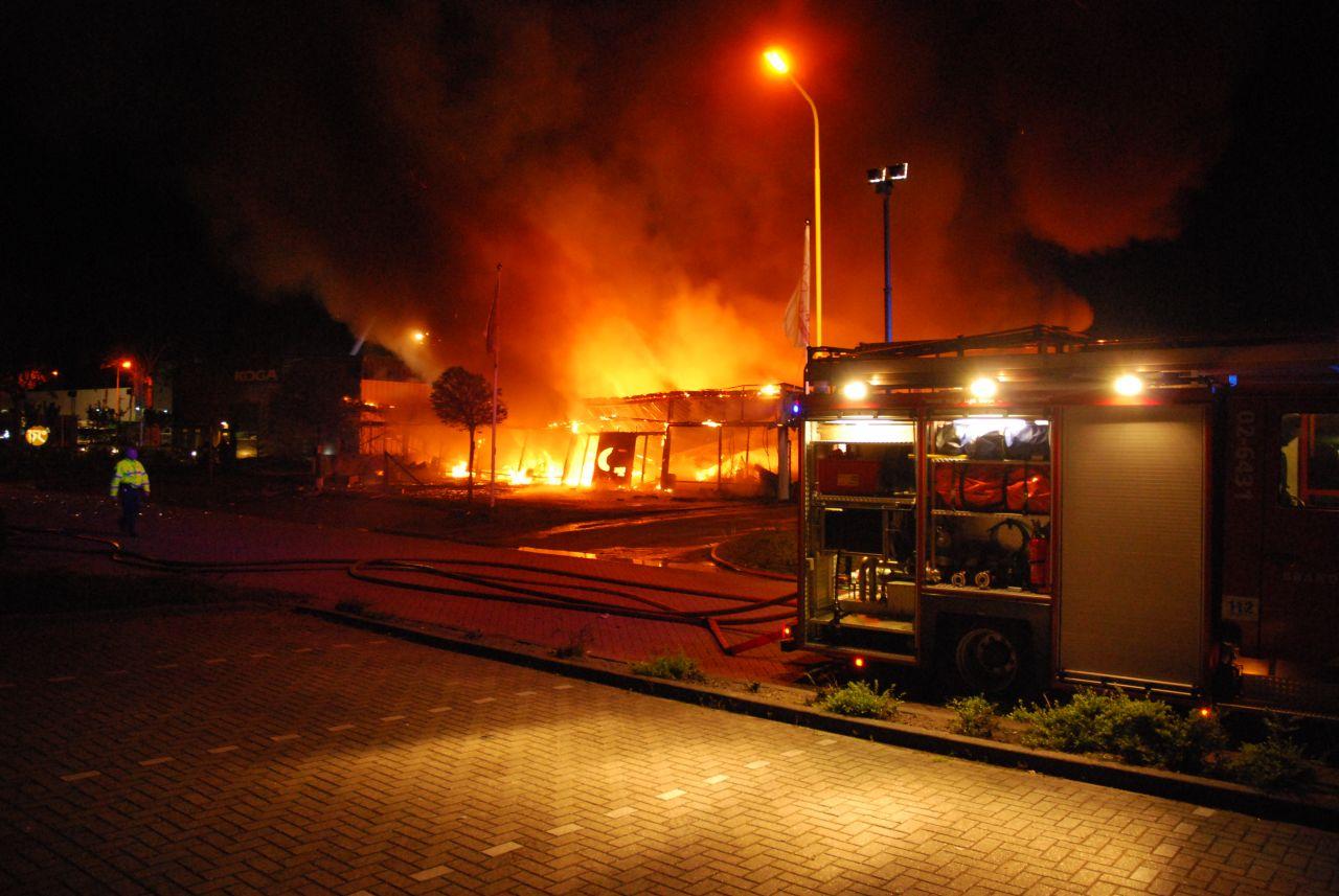 Zeer grote brand in Heerenveen