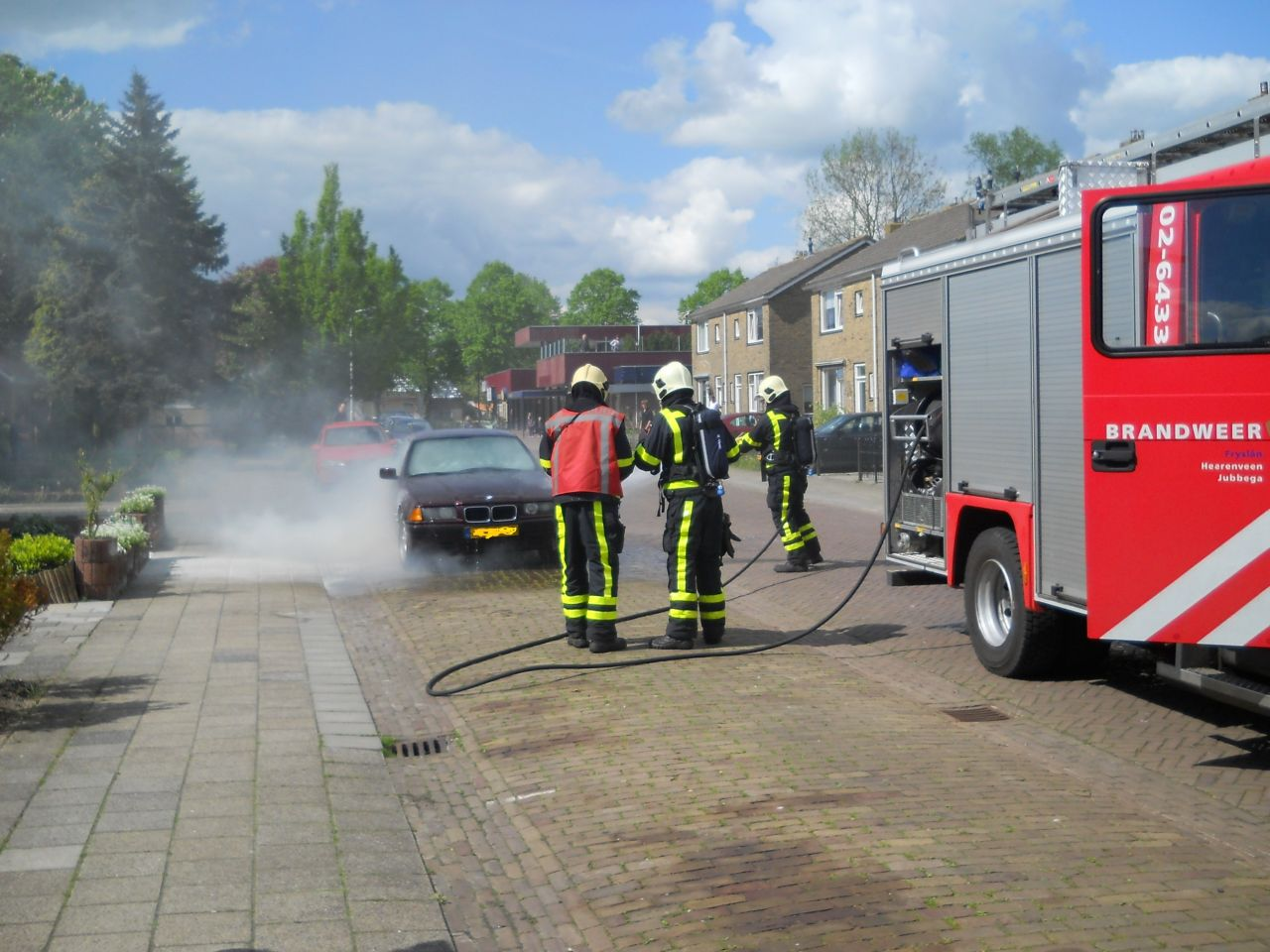Brand in motorcompartiment