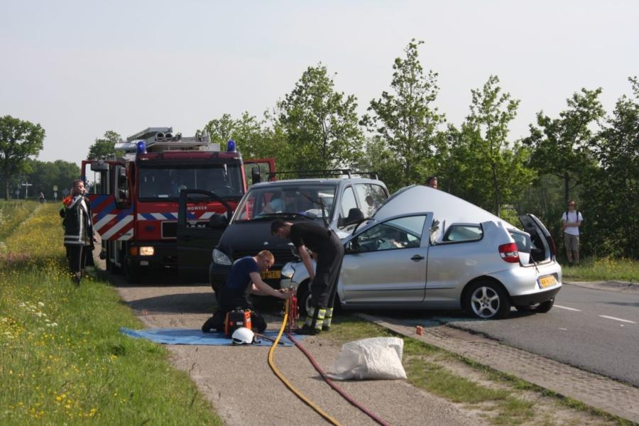 Gewonde bij ongeval op t-splitsing