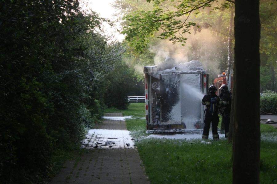 Schaftkeet verwoest door uitslaande brand