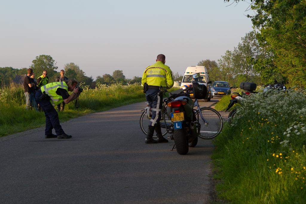 Fietsster gewond na ongeval met motorrijder