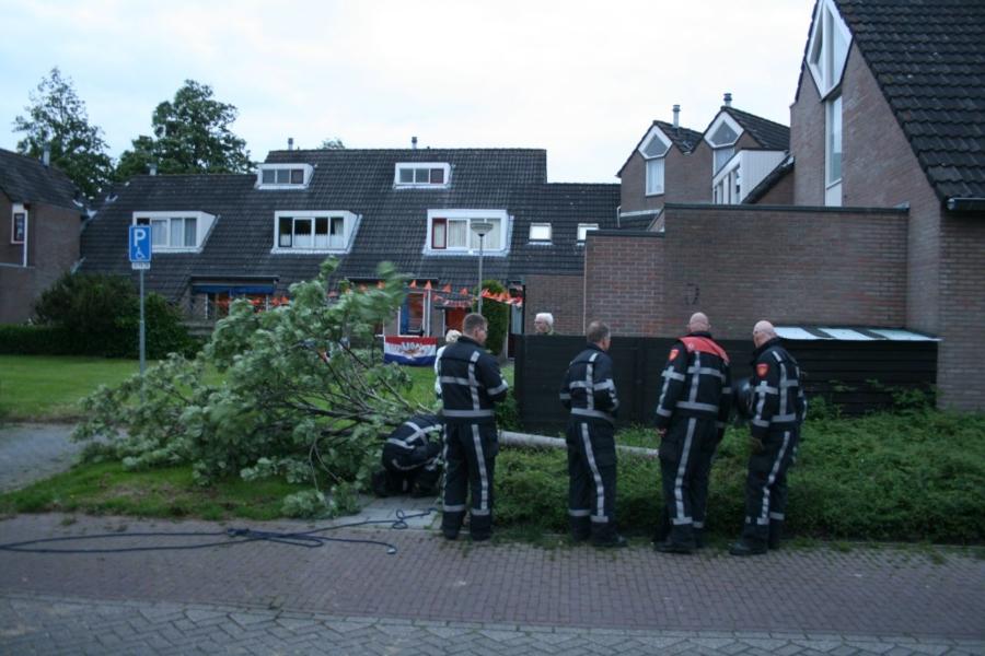 Brandweer lang bezig met stormschades