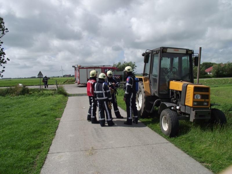 Oververhitte tractor laat brandweer uitrukken