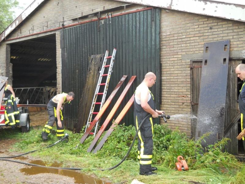 Brandweer haalt pink uit gierkelder
