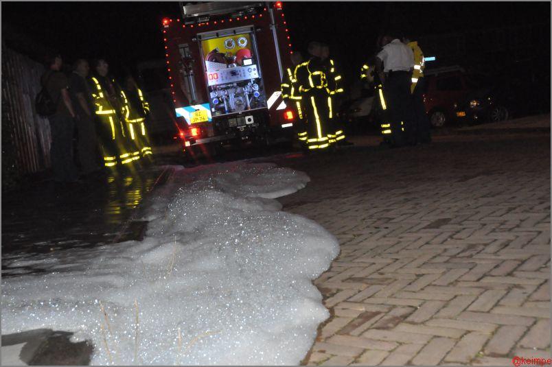 Brandweer in actie voor vuurpijl