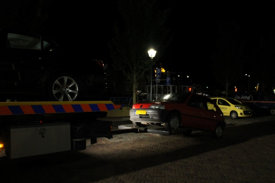 Ongeval na uitrijden parkeerplaats