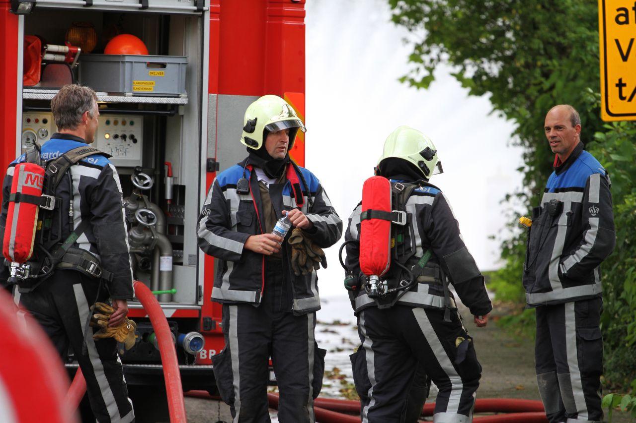 Gaslek zorgt voor langdurige brandweerinzet